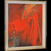Vintage Enamel Swirl Painting c.1969