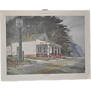 """Buford Winfrey Pencil Signed Print """"Close to Home"""" by Pecan Valley Studio c.1989"""