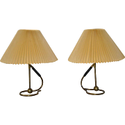 Pair of Kaare Klint Designed Table Lamps for Le Klint of Denmark c.1940s