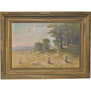 """Sheaves of Wheat"" Original Oil Painting by D. Maclure c.1925"