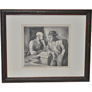 Charles Locke (1899-1983) Pencil Signed Lithograph