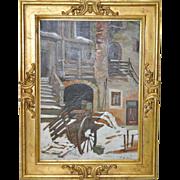 Vintage Italian Oil Painting Circa 1940s