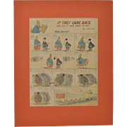 "Jack Farr New York Herald Full Page ""Solomon"" Color Cartoon c.1918"