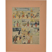 Buster Brown Cartoon Full Color Page American Examiner c.1910