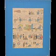 "A.E. Hayward ""Colonel Corn"" Full Page Color Cartoon for the New York Herald c.1916"