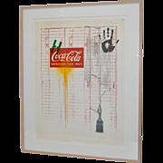 "Jasper Johns (American, b. 1930) Untitled ""Coca Cola"" Signed Color Lithograph c.1971"