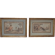 Pair of 19th Century French Hand Colored Engravings