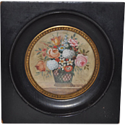 19th Century Miniature Floral Still Life Painting