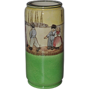 "Royal Doulton ""Dutch A - Harlem"" Cylindrical Spill Vase c.1910"