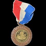 """Rare """"Industrial Exposition, Spokane"""" Gilded Bronze Token c.1899"""