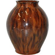 19th Century Glazed Stoneware Vase