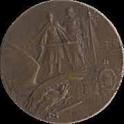 Heroes of Verdun by Charles Pillet, France Bronze Medal c.1916