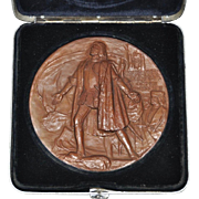 "World's Columbian Expo Bronze Medallion ""Christopher Columbus"" c.1893"