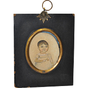 19th Century American Portrait Miniature of a Young Child