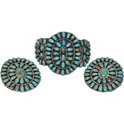 Larry Moses Begay Sterling Silver & Turquoise Suite