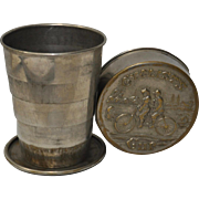Antique Collapsing Bicycle Cup