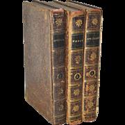 "Lot of Three Antique Leather Bound ""World & Spectator"" Books c.1790s"