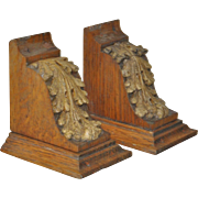 Early 20th Century Carved Acanthus Leaves Architectural Brackets