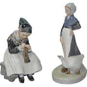 Pair of Royal Copenhagen Porcelain Figurines c.1960s
