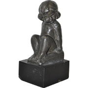 Bronze Sculpture of a Young Child