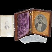Gutta-Percha Union Case w/ Photo c.1850s