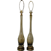 Pair of Vintage Seguso Murano Table Lamps c.1960