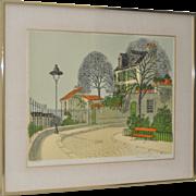 Denis Paul Noyer Original Pencil Signed Lithograph c.1960s