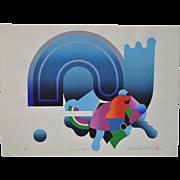 Vintage Nineteen Seventies Silkscreen Print