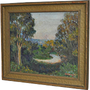 Helen Hawley Narozny Landscape Oil Painting c.1930