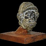 Miniature Iron Head Sculpture After Antiquity
