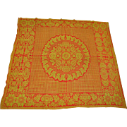 19th Century American Hand Woven Coverlet by Peter Schum, Lancaster, PA c.1850