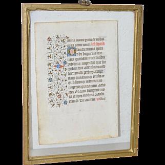 Two Sided Illuminated Manuscript
