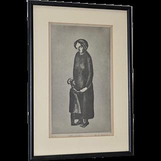 Alex R. Stavenitz (Russian 1901-1960) Mother & Child Etching c.1932