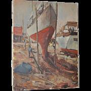 Henri Francois (Netherlands) Original Oil on Canvas c.1940
