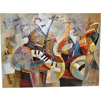 Shaul Kosman (Israel) Acrylic on Canvas