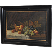 Early 20th Century Fruit Still Life Oil Painting c.1900