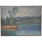 Impressionist Landscape Painting by Laughton