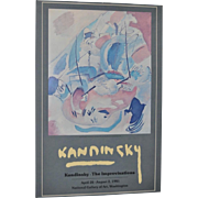 KANDINSKY Exhibition Poster National Gallery of Fine Art c.1981