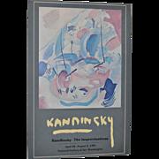 KANDINSKY Exhibition Poster National Gallery of Fine Art c.1981
