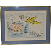 Marc Chagall Color Lithograph c.1960s