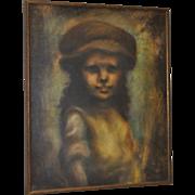"Bruce Xavier Balfour ""Young Girl"" Original Oil Painting c.1960"