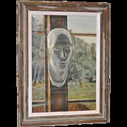 "Stephen Etnier (American, 1903-1984) ""Studio Window"" Original Oil Painting c.1932"