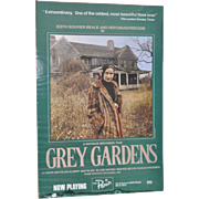 "Vintage ""Grey Gardens"" Movie Poster from The Paris Theater in NYC"