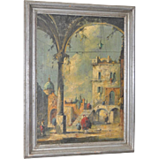 19th Century Italian School Oil Painting