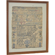 19th Century Sampler Fragment by Mary Brodhurst