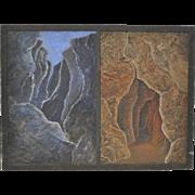 "Faith Rumm Mixed Media ""Inverted Landscape"" Original Painting"