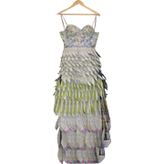 High Fashion Dress Made From San Francisco Tourist Maps by Designer Dia Ates