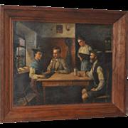 19th Century European Oil on  Canvas