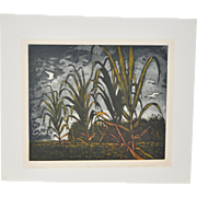 "Arnold Grossman (California, 1923-2016) Etching w/ Aquatint ""Sugar Cane"" Pencil Signed / Numbered"