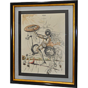 "Salvador Dali ""Don Quixote"" Color Lithograph Signed / Numbered"